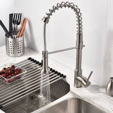 Kitchen Sink Faucet With Sprayer Brushed Nickel Kitchen Sink Faucet With Pull Sprayer