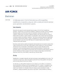 Example Of Australian Resume 28 Sample Resume High Voltage Electrician Electrical