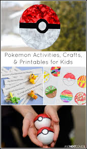 pokemon activities u0026 crafts for kids and next comes l