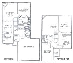 awe inspiring 2 story floor plans with garage 13 two story four