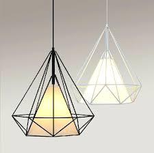 Iron Pendant Light Diamond Pendant Light Modern Pendant Light Diamond Shape Iron