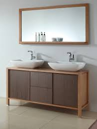 remarkable horizontal mirror above ovaled sink for contemporary