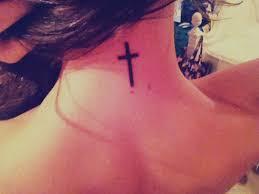 tattoo back cross 36 heavenly cross neck tattoo designs