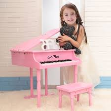 amazon com goplus wood toy grand piano 30 keys for childs with
