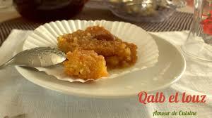 soulef amour de cuisine kalb el louz patisserie algerienne du ramadan gateau algerien par