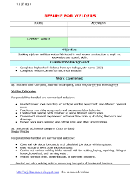 Sample Training Resume by Welder Sample Resume Free Resume Example And Writing Download