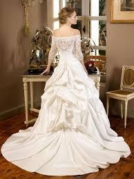 Off The Shoulder Wedding Dresses Taffeta Off The Shoulder Winter Wedding Dress With Lace Appliques