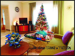 Retro Living Room by Victoria Lavender Retro Living Room At Christmas Time