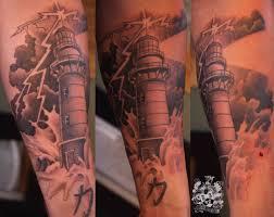 30 beautiful lighthouse tattoos on forearm