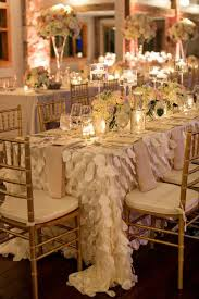 wedding table linens decor draped petal table linens 2029435 weddbook
