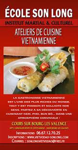 cours cuisine vietnamienne site de l école viet vo dao activitées culturelles