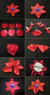 diy tutorial hair accessories how to make a fabric flower hair