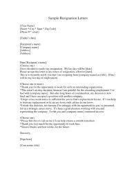 resignation letter latest resignation letter sample version