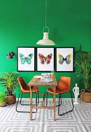 green with envy green dining room butterfly print and butterfly