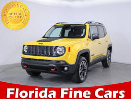 jeep renegade 2017 used 2017 jeep renegade trailhawk suv for sale in hollywood fl