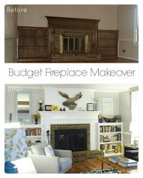 voguish after fireplace makeovers fireplace surrounds then before