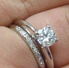 wedding band with engagement ring engagement and wedding ring sets search wedding