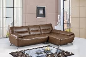 global furniture bonded leather sofa u7532 sectional sofa in walnut bonded leather by global
