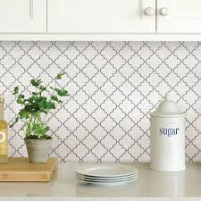 wallpops white quatrefoil peel stick backsplash tiles nh2360 the