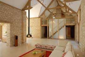 natursteinwand wohnzimmer scheunenumbau interieur design natursteinwand wohnzimmer