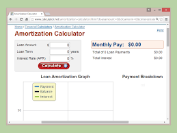 Compound Interest Calculator Spreadsheet How To Calculate Amortization 9 Steps With Pictures Wikihow