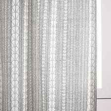 Echo Design Curtains Echo Print Curtains Set Of 2 Platinum West Elm