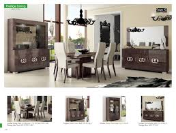prestige dining room set in walnut lacquer free shipping get