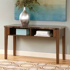 Curved Sofa Table by Bedroom Fascinating Sofa Table Console Faux Marble Top Signature