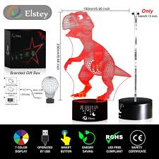 3d Lamps Amazon Dinosaur 3d Night Light Touch Table Desk Lamp Elsley 7 Colors 3d