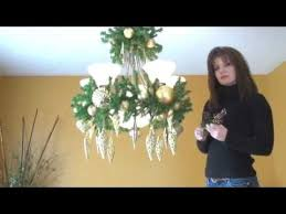 How To Decorate A Chandelier With Beads Video How To Decorate A Chandelier Light Fixture For Christmas