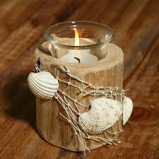 wedding table decorations candle holders handmade sea shell wooden candle holders for home decor natural bars