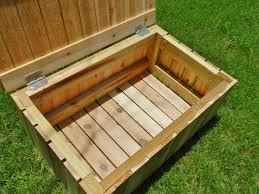 wooden outdoor storage bench plans