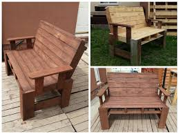 two seater garden bench from pallets u2022 1001 pallets