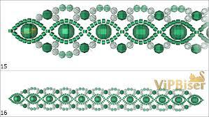 bracelet bead pattern images Beaded emerald bracelet 3d tutorial jpg