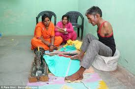 armless indian tailor creates garments with his feet daily mail
