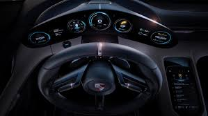 porsche dashboard world premiere for porsche mission e