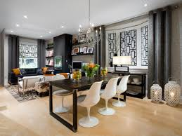 combined living room and dining room home decorating interior