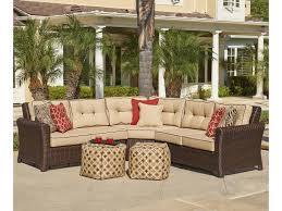 northcape international tisdale wicker outdoor corner sectional
