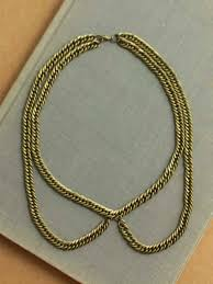 gold chain collar necklace images Peter pan collar necklace a common thread png