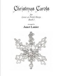 harp book carols for harp book i janet lanier