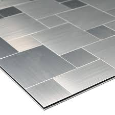 peel and stick metal mosiac sheets for backsplash 12in x 12in 10