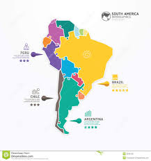 Map Of North And South America by North And South America Modern Infographic Network Stock Vector