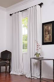 Black And White Blackout Curtains Signature White Blackout Velvet Pole Pocket Curtains For Our