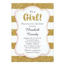 pink and gold baby shower invitations pink gold glitter baby shower invitations announcements zazzle