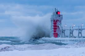 Frozen Waves Pancake Ice Possible On Lake Michigan This Week Woodtv Com