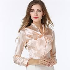online cheap women dress shirt blouse ol fashion bow flounced
