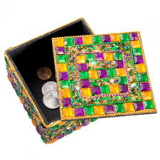 mardi gras trinkets gold jeweled square mardi gras trinket box mg19 123
