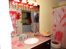 Bloody Shower Curtain And Bath Mat Bloody Bathroom Dripping Bloody Hand Gel Clings On Mirror