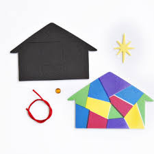 nativity silhouette christmas decoration kit stained glass paper kit