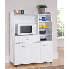 petit meuble cuisine kitchen desserte de cuisine l 100 cm blanc mat achat vente